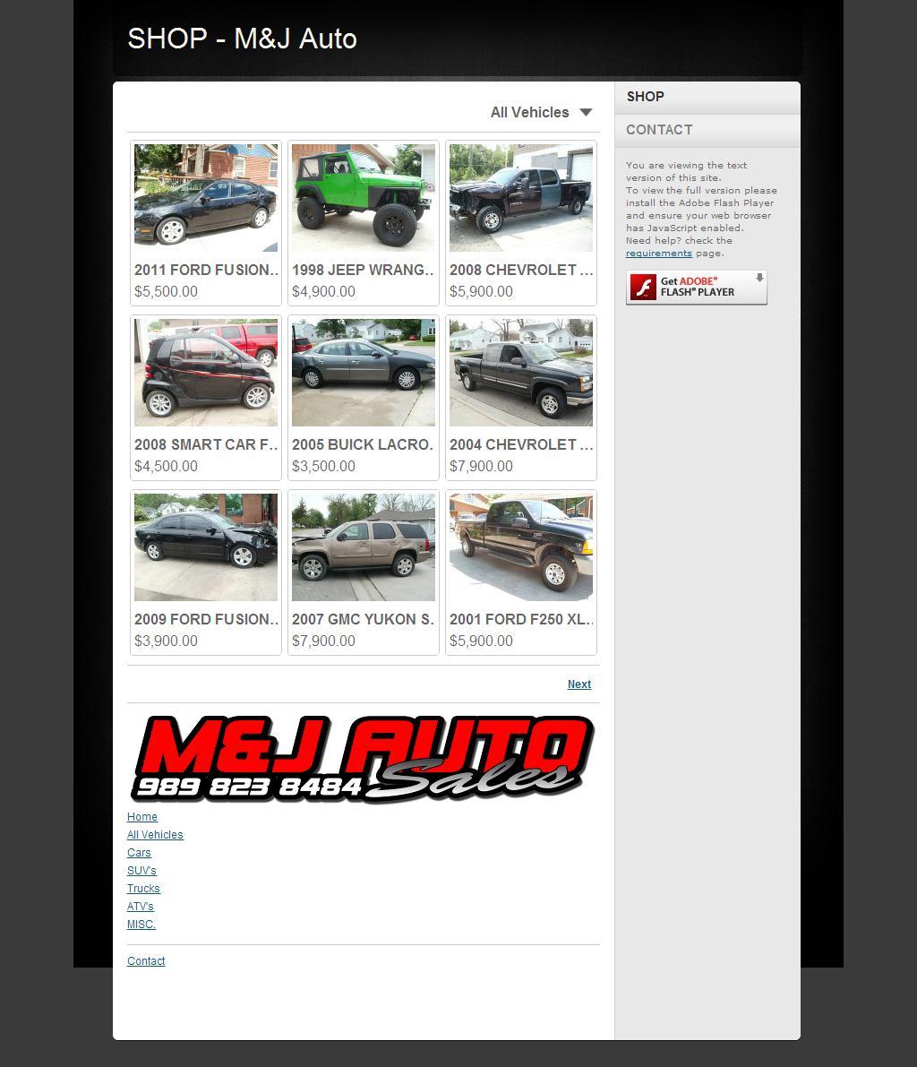 SHOP - M&J Auto
