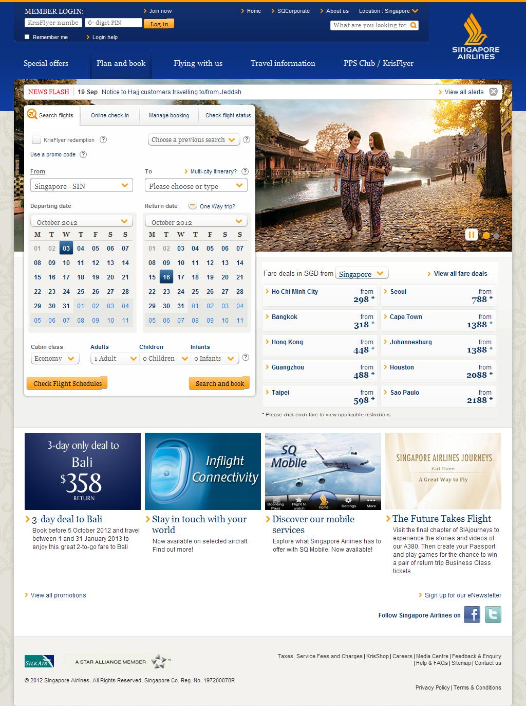 Welcome to Singapore Airlines