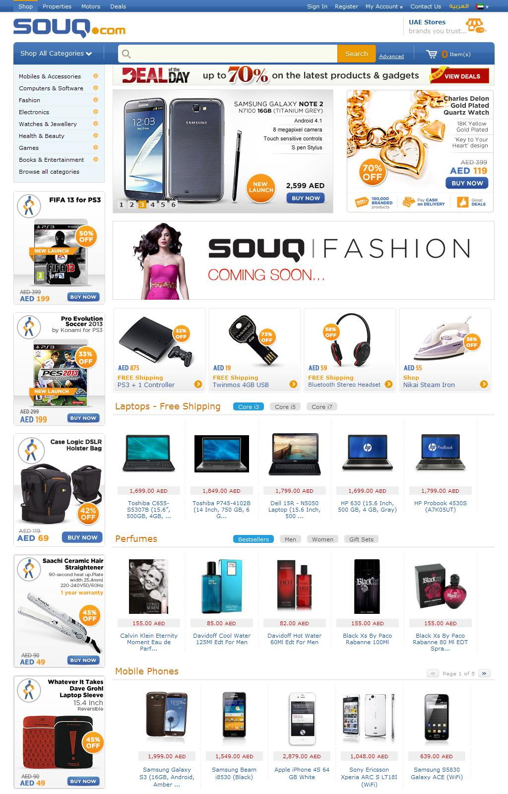 Shop in Dubai, Abu Dhabi, UAE | Shopping for Electronics, Computers, Mobile Phones, Fashion Brands, Clothing and more Online Shopping Deals | Souq