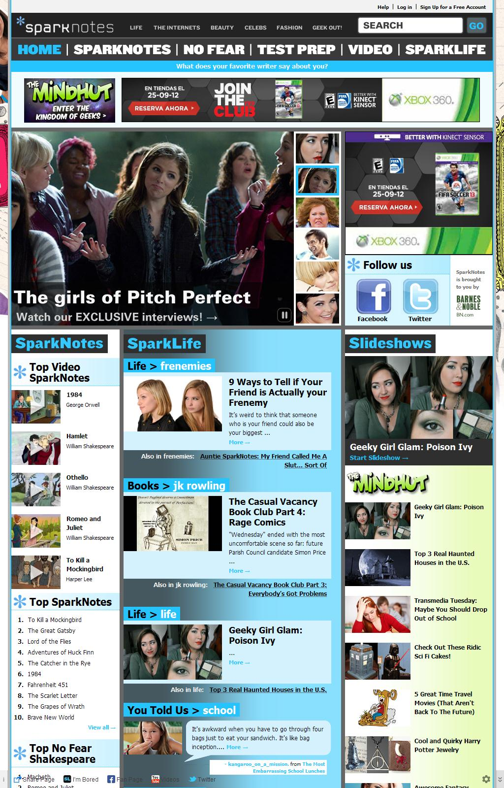 SparkNotes: Today's Most Popular Study Guides