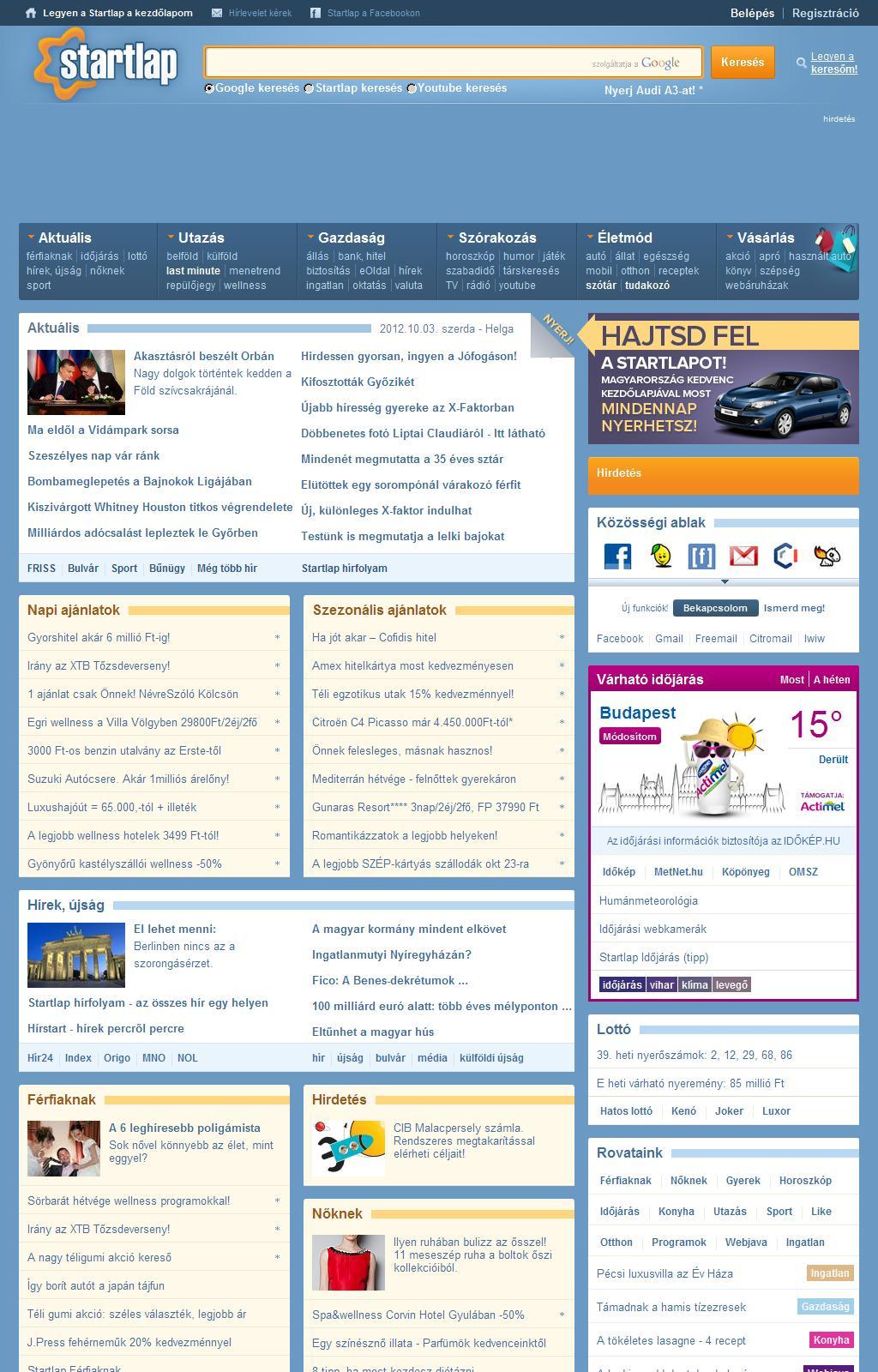 Startlap - www.startlap.hu