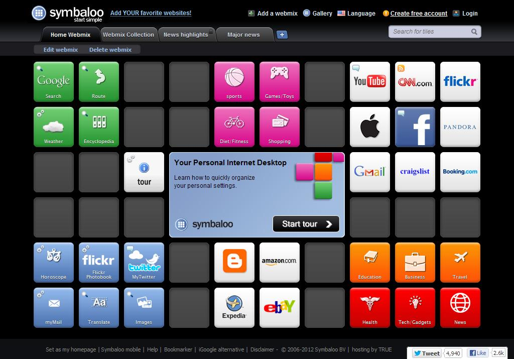 Symbaloo   Access your bookmarks anywhere   iGoogle alternative