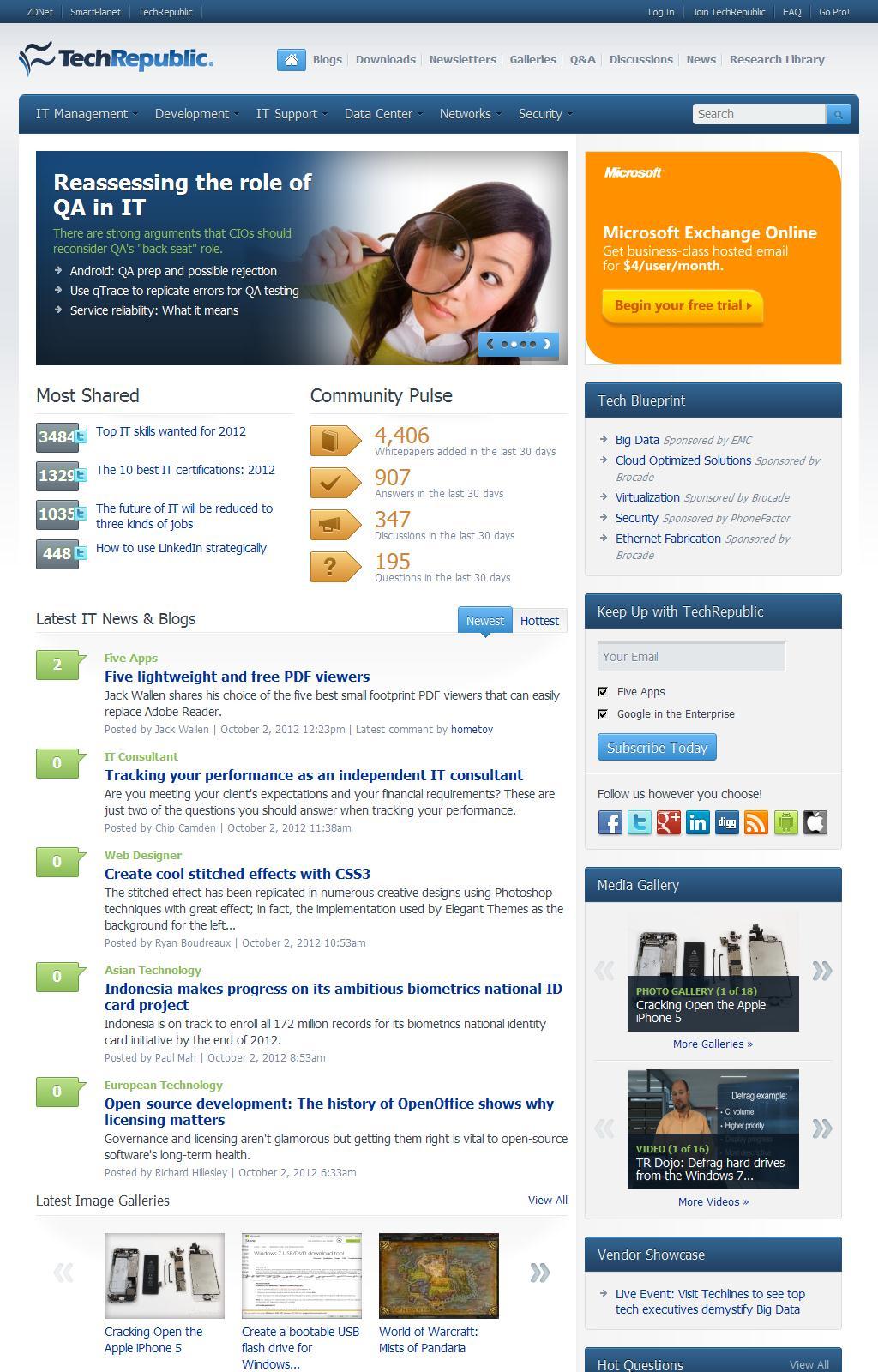 TechRepublic - A Resource for IT Professionals