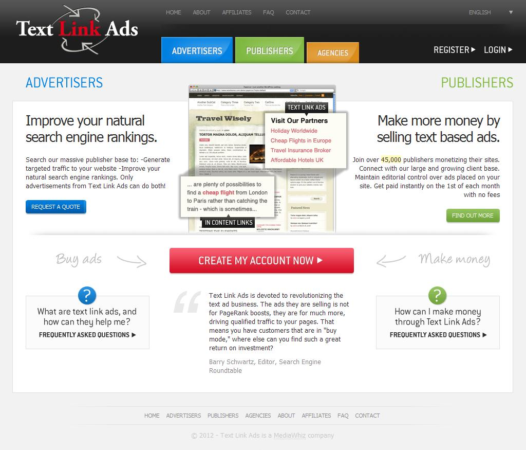 TextLinkAds | The Leader in Text Link Search Engine Optimization