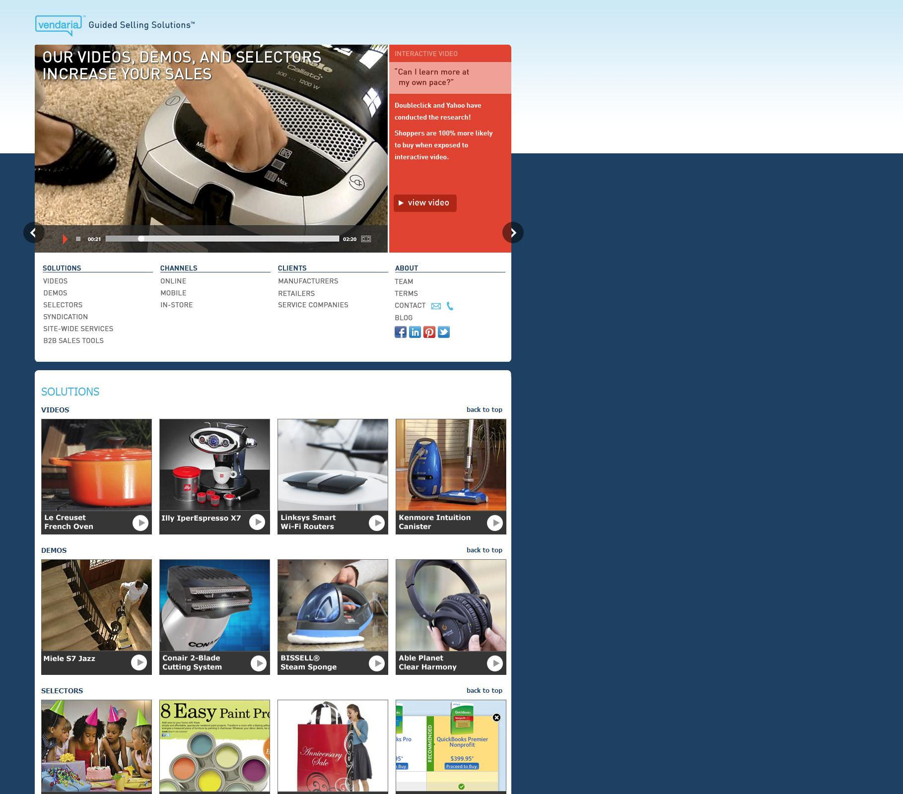 Vendaria Media Inc - Helping shoppers find the right products based on their individual preferences