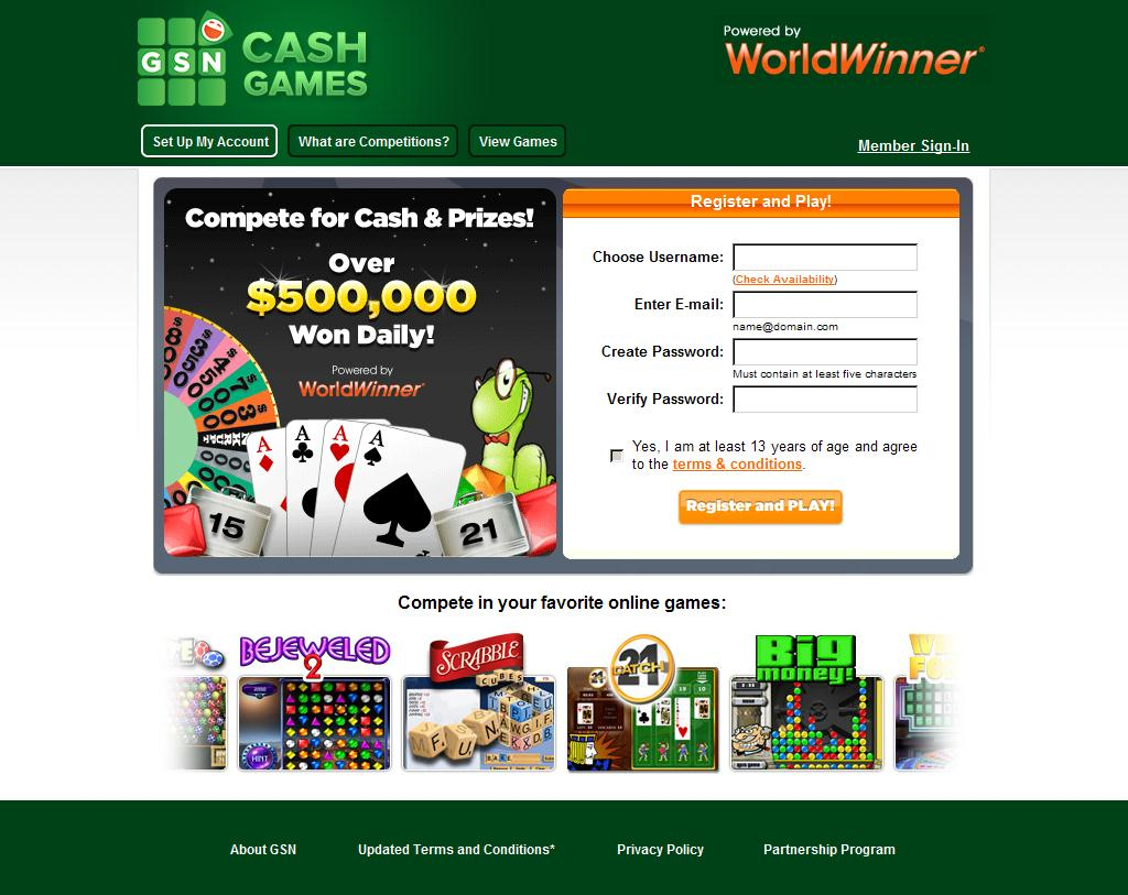 Play Games Online For Cash - Solitaire, Bejeweled 2 and More Online Games - WorldWinner Cash Games on GSN