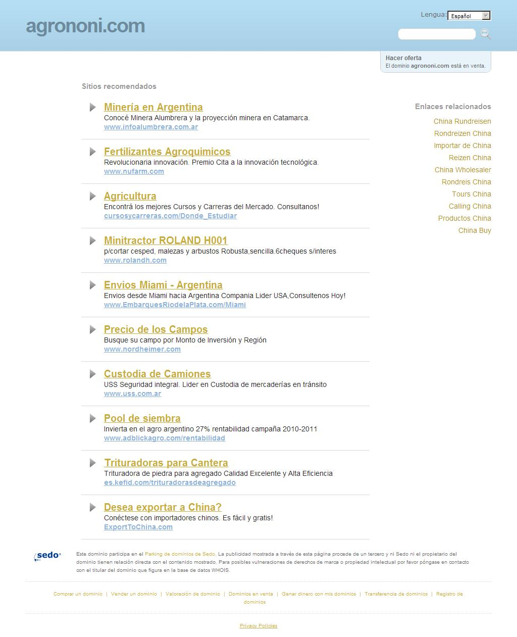 agrononi.com - La mejor información y recursos sobre agro noni. ¡Esta pagina está a la venta!